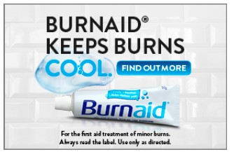 Burnaid® keeps burns cool campaign launch